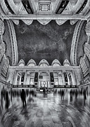 Railway Terminal Framed Prints - A Central View BW Framed Print by Susan Candelario