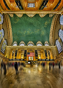 Railway Terminal Framed Prints - A Central View Framed Print by Susan Candelario