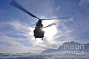 Featured Art - A Ch-47 Chinook Helicopter Takes by Stocktrek Images