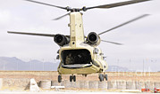 Featured Acrylic Prints - A Ch-47 Chinook Helicopter Transporting Acrylic Print by Stocktrek Images