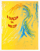 Silk Screen Print Prints - A Chacun Sa Passion Print by Tom Lamb