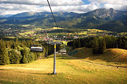 Wanderer Photos - A chair-lift by Michal Bednarek