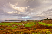 Espn Photo Prints - A Chambers Bay Morning Print by Ken Stanback