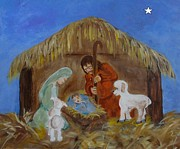 Star Of Bethlehem Prints - A Child is Born Print by Elizabeth Liz Pritchett