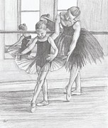 Ballet Drawings Originals - A Child of Ballet by Beverly Marshall