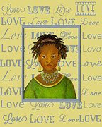 Word Portrait Painting Posters - A Childs Whispers Of Love Poster by The Art With A Heart By Charlotte Phillips