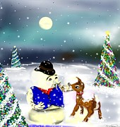 Gloves Digital Art - A Christmas Night by Lori  Lovetere