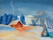 Paintings Available As Prints - A Christmas Postcard by Phillip Compton