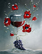 Wine Glass Paintings - A Christmas To Remember by Shawna Erback by Shawna Erback
