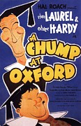 Film Print Framed Prints - A Chump at Oxford Framed Print by Movie Poster Prints