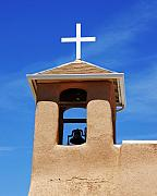 Taos Prints - A Church Bell In The Sky 2 Print by Mel Steinhauer