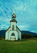 Old Relics Photo Framed Prints - A Church In British Columbia   Framed Print by Jeff  Swan