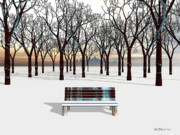 Walter Oliver Neal - A City Bench In Winter