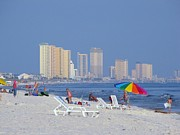 Panama City Beach Posters - A city beyond the beach Poster by Michelle Powell