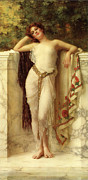 Gold Belt Prints - A Classical Beauty Print by William Clarke Wontner