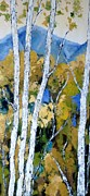 Birch Trees Acrylic Prints - A Clear Day Acrylic Print by Vicki Conlon