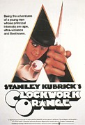 Clockwork Framed Prints - A Clockwork Orange Poster Framed Print by Sanely Great