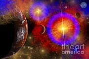 Twinkle Framed Prints - A Colorful Section Of Alien Space Framed Print by Mark Stevenson