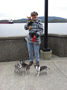 Puppies Photo Originals - A Cool Waterfront Stroll 3 by Karin Przybilski