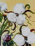 Southern Plantation Paintings - A Cotton Pickin Couple by Eloise Schneider