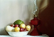 Oil Lamp Photos - A Country Still Life by Michael Hoard