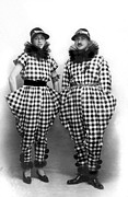 Matching Outfits Prints - A Couple In Amazing Outfits Print by Underwood Archives