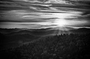 Cowee Mountain Overlook Prints - A Cowee Mountains Evening Print by Ben Shields