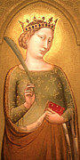 Saathoff Art Digital Art Originals - A Crowned Virgin Martyr - Facsimile by Li   van Saathoff