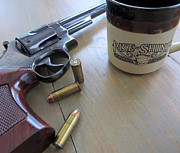 44 Magnum Prints - A Cup of Joe with Smith and Wesson Print by John Burch