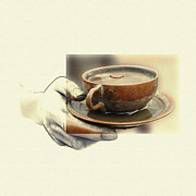 Pencil Drawing Mixed Media - A Cup of Tea 2 by Stefan Kuhn