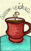 Wishes Pastels Posters - A cup of wishes Poster by Susan George