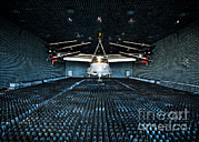 Trial Prints - A Cv-22 Osprey Hangs In The Anechoic Print by Stocktrek Images
