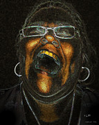 Rage Digital Art - A Dark Laugh by Pedro L Gili
