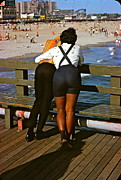 1960 Photo Originals - A Day At Coney by Ira Shander