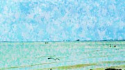Florida Bridge Mixed Media - A Day At Sanibel Shores by Florene Welebny