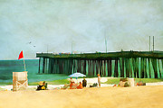 Vacation Digital Art Prints - A Day at the Beach Print by Darren Fisher
