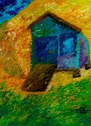 House Pastels - A day at the beach by Jon Kittleson