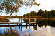 Jetty View Park Prints - A Day At The Lake Print by Flora Ehrlich