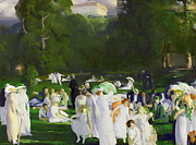 White Dress Prints - A Day in June Print by George Wesley Bellows