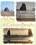 Seimagesonline Prints - A Day on Cannon Beach Print by Sharon Elliott
