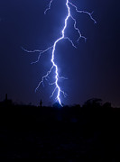Arizona Lightning Prints - A Desert Storm  Print by Saija  Lehtonen