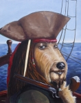 Captain Jack Sparrow Prints - A Doodle on the High Seas Print by Diane Daigle