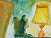 Loose Paintings - A Door A Chair and A Yellow Lamp by Shea Holliman