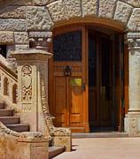 A Door In Monaco Print by Christine Burdine