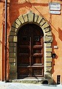Mel Steinhauer Framed Prints - A Door In Tuscany Framed Print by Mel Steinhauer