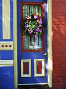 Cityscapes Prints - A Door Of Many Colors Print by Mel Steinhauer