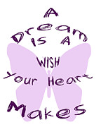 Encouragement Posters - A Dream is a Wish Your Heart Makes Poster by Nomad Art And  Design