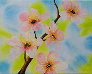 Tree Blossoms Paintings - A Dream of Spring by Carol Avants