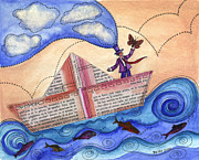 Graciela Bello Art - A dreamer in a paperboat... by Graciela Bello