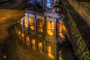 Water Reflections Pyrography - A drop of Rome by Federico Napoleoni